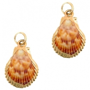 Shell bead specials Scalop Rose-Rose Gold