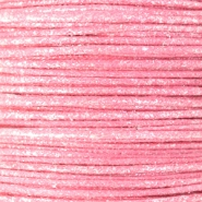 Waxed cord metallic 0.5mm Light Pink
