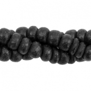 Coconut beads disc 3-4mm Black (natural colour of coconut)