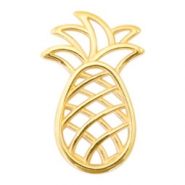 DQ European metal charms connector pineapple Gold (nickel free)