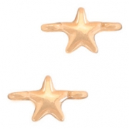 DQ European metal charms connector star Rose Gold (nickel free)
