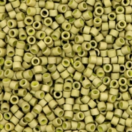 Miyuki beads delica's 11/0 Opaque Matte Luster Golden Olive Green  DB-371