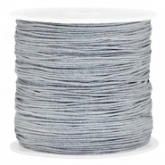 Macramé bead cord 0.8mm Grey