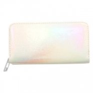 Trendy wallets holographic Metallic Rainbow-Off White
