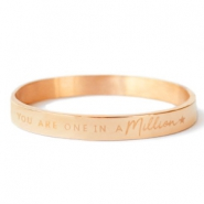 "Stainless steel bracelets ""YOU ARE ONE IN A MILLION"" Rose Gold"