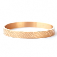 Stainless steel bracelets zebra print Rose Gold