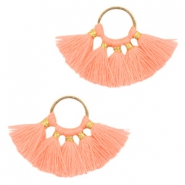 Tassels charm Gold-Neon Orange
