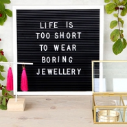 Jewellery display letter board 30x30cm White