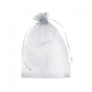 Jewellery Organza Bag 9x12cm Silver Grey