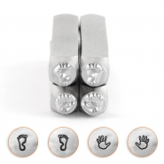 ImpressArt design stamps hand and foot prints 6mm Silver