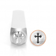 ImpressArt design stamps rounded cross 6mm Silver
