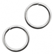 Stainless Steel findings jump ring 6mm Antique Silver