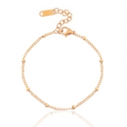 Stainless steel bracelets ball Rose Gold