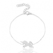 Stainless steel bracelets unicorn Silver