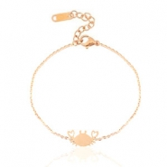 Stainless steel bracelets crab Rose Gold