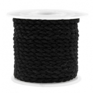 Trendy flat cord braided suede style 5mm Black