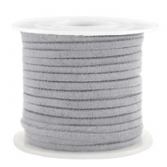Trendy flat cord suede style 3mm 3mm Grey