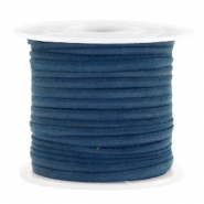 Trendy flat cord suede style 3mm 3mm Dark Blue