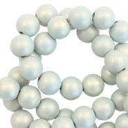 10 mm acrylic beads matt Light Blue-Pearl Coating