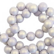 8 mm acrylic beads matt Lilac Purple-Pearl Coating