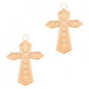 Bohemian charms cross Rose Gold