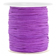Macramé bead cord 1.0mm Soft Grape Purple