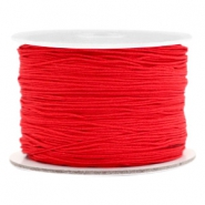 Macramé bead cord 0.5mm Scarlet Red