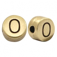DQ European metal letter beads O Antique Bronze (nickel free)