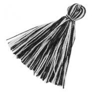 Tassels basic 3cm Black White