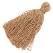 Tassels basic 3cm Roast Brown