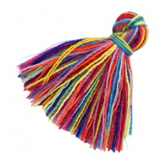 Tassels basic 2cm Multicolour Rainbow Red Blue