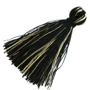 Tassels basic goldline 3cm Black