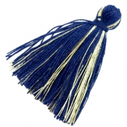 Tassels basic goldline 3cm Dark Blue
