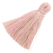 Tassels basic goldline 3cm Antique Pink