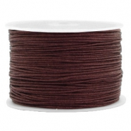 Macramé bead cord 1.0mm Tawny Brown