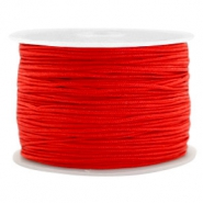 Macramé bead cord 1.0mm Candy Red
