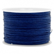 Macramé bead cord 1.0mm Denim Blue