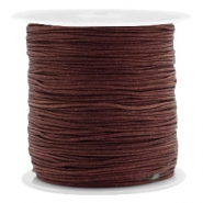 Macramé bead cord 0.8mm Tawny Brown