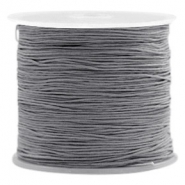 Macramé bead cord 0.8mm Stormy grey