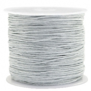 Macramé bead cord 0.8mm Rainy Grey