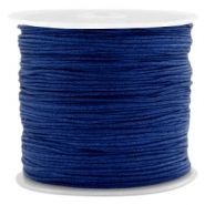 Macramé bead cord 0.8mm Denim Blue