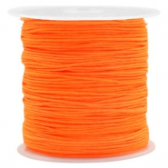 Macramé bead cord 0.8mm Neon Orange
