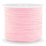 Macramé bead cord 0.8mm Light Pink