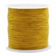 Macramé bead cord 0.5mm Mustard Brown