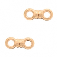 DQ European metal charms connector bow Rose Gold (nickel free)
