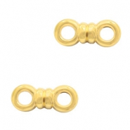 DQ European metal charms connector bow Gold (nickel free)