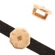 DQ European metal sliders compass Rose Gold (nickel free)