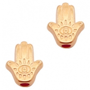 DQ European metal beads Hamsa hand Rose Gold (nickel free)