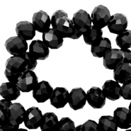 Top faceted beads 6x4mm disc Black