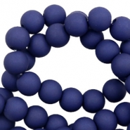 6 mm acrylic beads matt Dark Blue